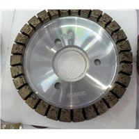 Diamond cup grinding wheel for glass processing