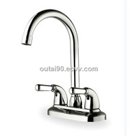 Dual holes kitchen sink chrome water faucet mixer OT-2131