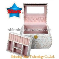 Fashion Jewelry Packing Box with Silvery White Color