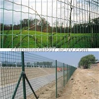 Green pvc coated euro  fence