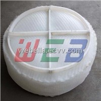 Knitted wire mesh PP demister pad/PE demister pad