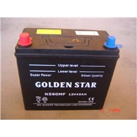 Maintenance Free JIS car battery 12V 45AH