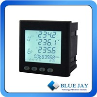 Multi-function Power Meter, Three Phase Volt, Amp, Hz, Power Factor Measurement