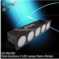 Multi-functions Jointed 5 Lamps  LED Matrix Blinder Light(VG-MSL005)