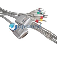 Nihon Kohden EKG 10-lead cable with leadwires