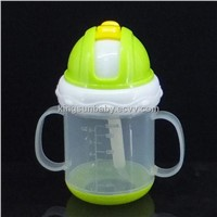No-Spill Straw Sippy Cup, Baby Training Cup
