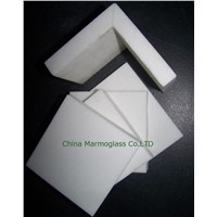 Pure White Crystallized Glass Stone for wall cladding