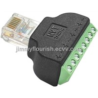 RJ45 to SCrew terminal,RJ45 screw terminal modular plug