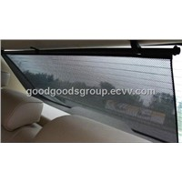 Rear roller car sunshade
