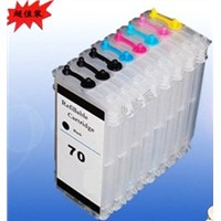 Refillable Hp70 Cartridges Compatible for HP Designjet z2100,8colors ,130ml/Color