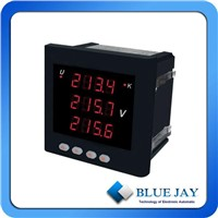 Three Phase LED Voltmeter With RS485 port, 4~20Ma Analog output For option