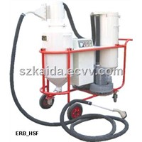 Vacuum abrasive recycle machine