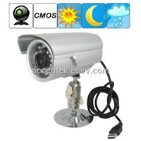 Waterproof 1/4 Inch CMOS CCTV Surveillance Camera Security Monitor TF Card Digital Video Recorder