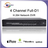 h 264 4 channel 4ch real time D1 dvr