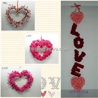 heart wreath for valentines' day