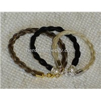 horse hair bracelets , jewelry ,necklace and earring