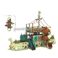 kid's outdoor pirate ship playground