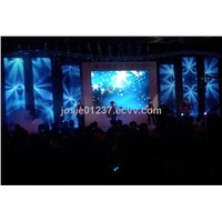 led curtain indoor P10/flexible led screen/soft led display