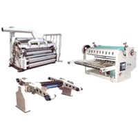 single corrugated cardboard production line