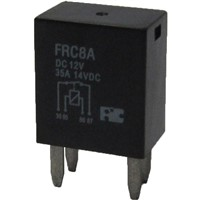 Automotive Relays with 2.8mm quick connect, 35A contact rating and High temperature design