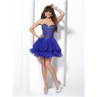 New Sweetheart Royal Blue Chiffon Short Evening Cocktail Dress Homecoming