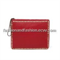 New Lady Bag Rivet Envelope Bag Laptop iPad Package Handbags Clutch Clutch Bag