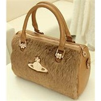 New Retro Wave of Cool Rabbit Fur Bags Wild Female Bag Shoulder Diagonal Package