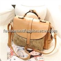 Retro Hair Plush Female Bag Influx of Korean Shoulder Messenger Bag Big Bag Hot