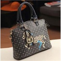 The Exquisite Korean Fashion Plaid Embroidery Portable Shoulder Diagonal Package