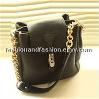 The New Influx of Female Artificial Leather Chain Bag Retro Shoulder Diagonal Package Shuitong