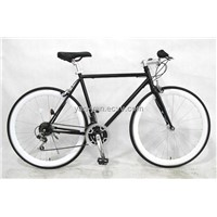 6gear Fixed gear bike/Black fixed gear bicycle/city bike