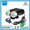 2X Cree XM-L2 LED 2200 Lumen Independent Remote Switch Bicycle Light