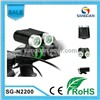 2 X Cree XM-L LED 2200 Lumens Independent Remote Switch Bicycle Light