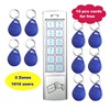 Sliver color RFID Door Controller, ID Card and Password Keypad Stand alone  Access Control System