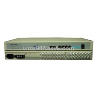 16E1 to 4Ethernet Vlan SNMP AC+DC EOP Protocol interface Converter