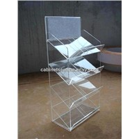 Clear Plastic 4Tiers Magazine Rack, Magazine 4 Tier 8 A4 Brochure Display Stand