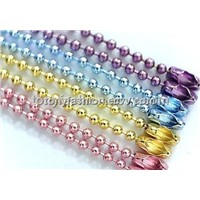 Colored Ball Chain Necklace