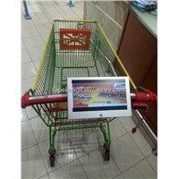 10.1inch small lcd display advertising for shopping cart