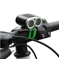 2000LM LED Bike Front Light with 6600mAh Waterproof Battery Pack