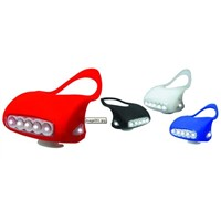 Hot Sell Couple Super Bright Flashing Silicone Bike Light