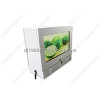 21.5inch 1,000nits dual-screens with water-proof case lcd advertising display for gas station