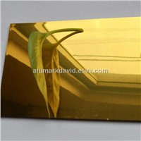 3mm Gold mirror wall cladding/aluminum composite panel