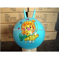 45cm Sheep-horn Kids baby toy Jumping Ball with oem Logo promotion gift