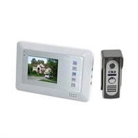 4 Inch TFT LCD Color Video Door Phone Doorbell Intercom System with IR Night Vision (White)