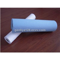 50cm * 50m Blue Examination Disposable Paper Roll , 1 Ply Poly + 2ply Paper
