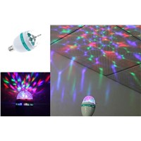 3W LED RGB Colorful Rotating Lamp For Christmas,Party, and Bar. 3W RGB LED Light Bulb, Foco LED RGB