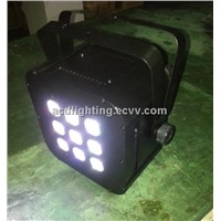 9*5in1 RGBWA Battery Powered Wireless DMX LED Par Light/ LED Flat Par Light,Wireless DMX LED Light