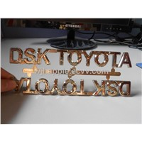 ABS car sticker, Chrome car lettering, Chrome car emblem, 3D Chrome car badge, Chrome nameplate