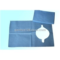 Blue Water - Proof Disposable Paper Aprons With Horizontal Embossed Pattern