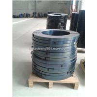 Blue tempered steel banding strap